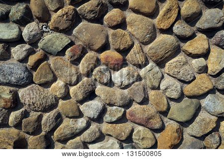 Stone wall, shot on a sunny afternoon 1