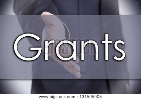 Grants - Business Concept With Text