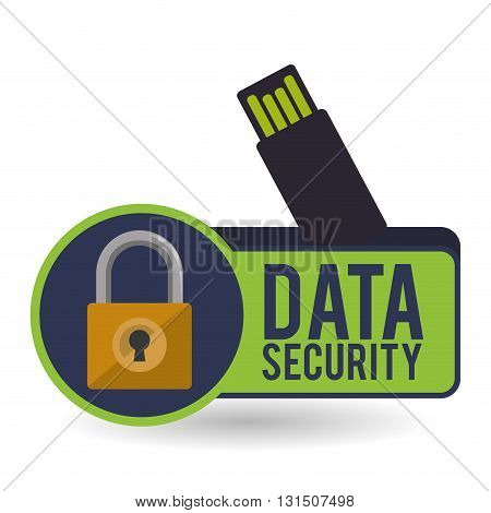 Data security concept with icon design, vector illustration 10 eps graphic.