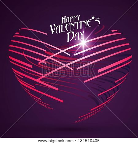 Abstract heart-shaped pattern Valentine's Day greeting cards available.
