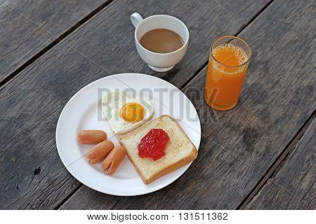 Breakfast Meal Orange Juice And Coffee