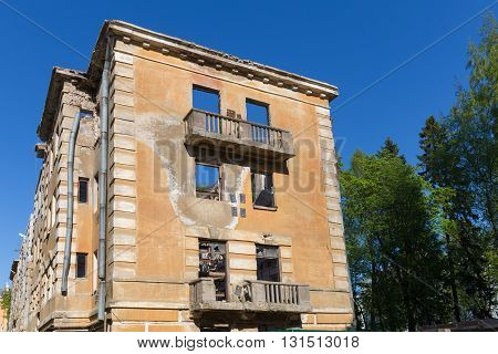 Abandoned Building - Broken Tenement Apartment House
