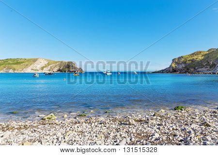 Popular Lulworth Cove Atlantic Ocean Coast, Dorchester, England, United Kingdom