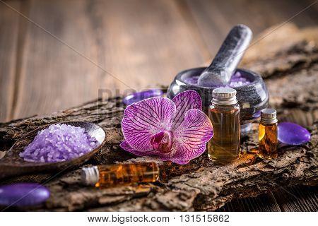 Essential oil for aromatherapy treatment, studio shot