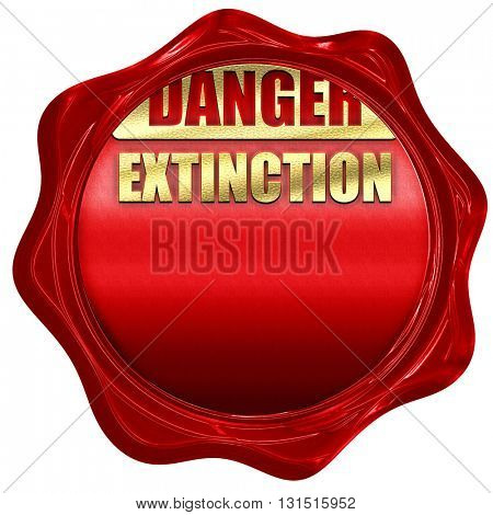 apocalypse danger background, 3D rendering, a red wax seal