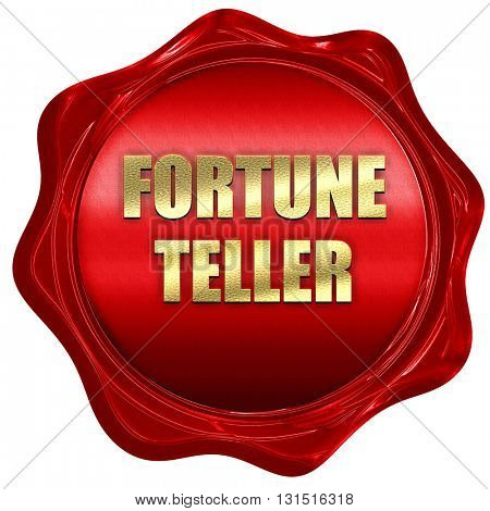 fortune teller, 3D rendering, a red wax seal