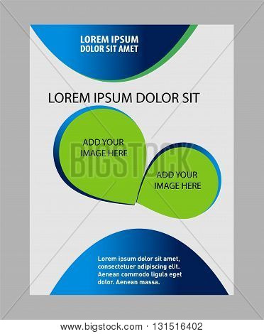 Professional business design layout vector template abstract