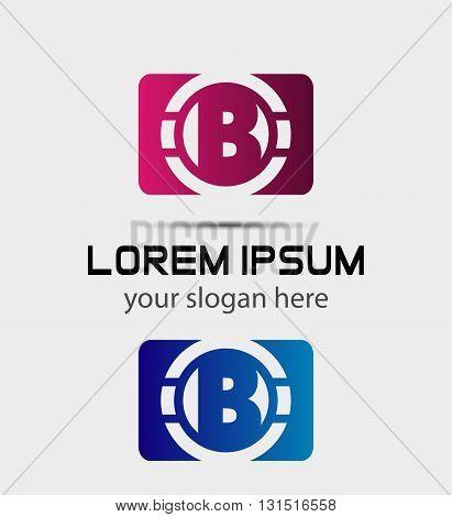 Vector graphic elegant font symbol alphabet Letter B icon