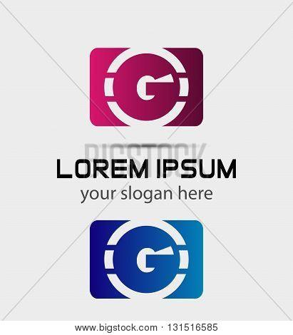 Vector graphic elegant font symbol alphabet Letter g icon