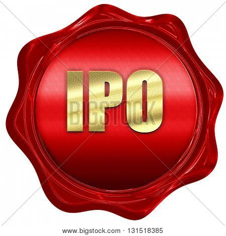 ipo, 3D rendering, a red wax seal