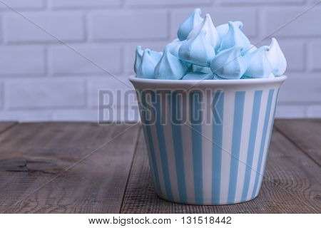 Blue Sweets On Table