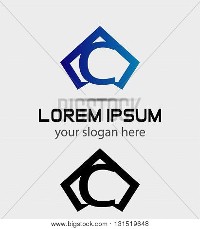 Letter C logo icon design template abstract