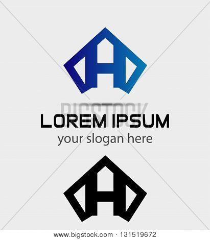Letter H logo icon design template abstract