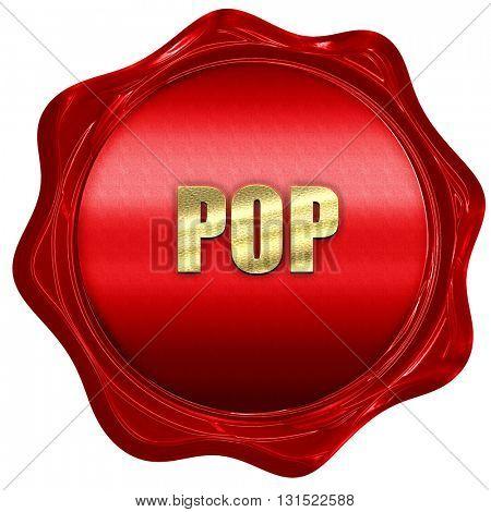 pop music, 3D rendering, a red wax seal