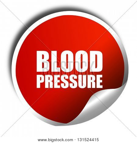 blood pressure, 3D rendering, a red shiny sticker