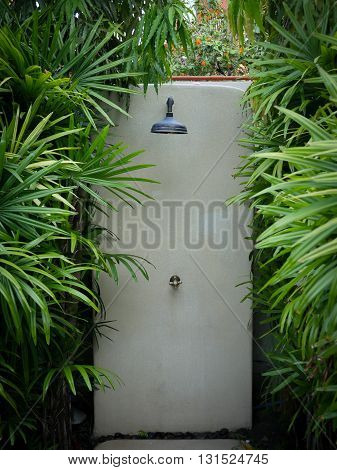 Rain Shower Outdoor in Pool Surrounded by trees Exposure to natural wholesome
