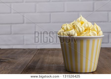 Yellow Sweets On Table