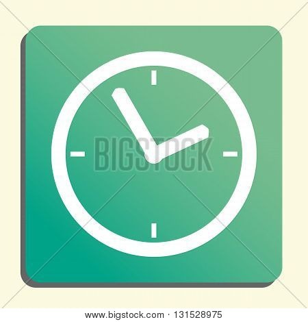 Clock Icon In Vector Format. Premium Quality Clock Symbol. Web Graphic Clock Sign On Green Light Bac