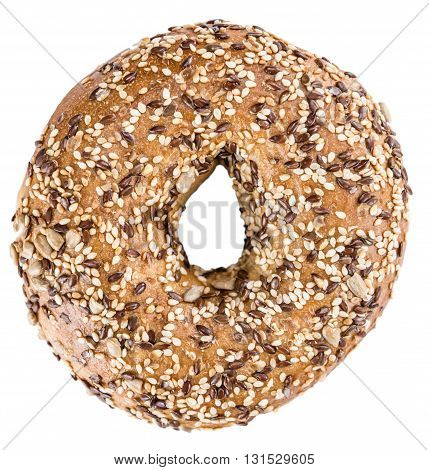 Wholemeal Bagels Isolated On White