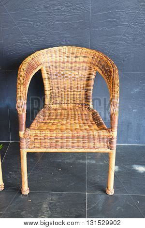 One new wicker comfortable chair in living room