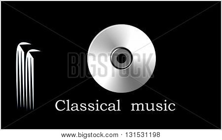 Classical  music. Cover for CD  The picture shows the ancient people who listen to classical music. This image can be used for cover, and for many texts.