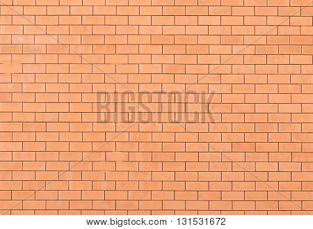 Closeup Red brick wall texture background. Red brick wall