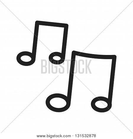 Music, play, sound icon vector image. Can also be used for music. Suitable for use on web apps, mobile apps and print media.