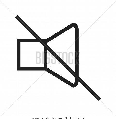 Mute, off, silence icon vector image. Can also be used for music. Suitable for mobile apps, web apps and print media.