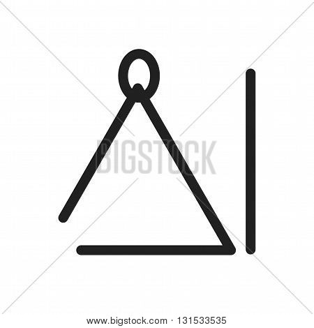 Triangle, instrument, music icon vector image. Can also be used for music. Suitable for web apps, mobile apps and print media.