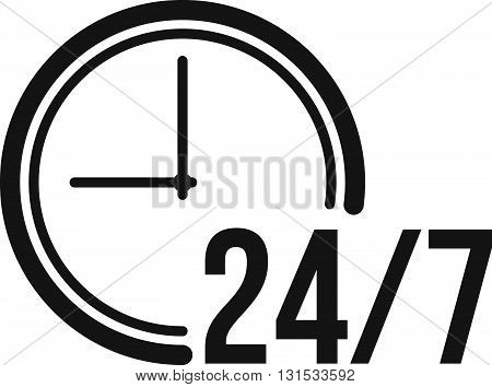 Clock, hours, day icon vector image. Can also be used for customer services. Suitable for web apps, mobile apps and print media.