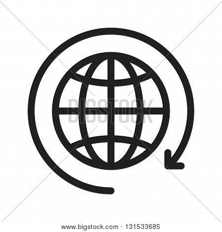 Globe, world, connection icon vector image. Can also be used for customer services. Suitable for web apps, mobile apps and print media.