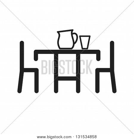 Table, setting, food icon vector image.Can also be used for home. Suitable for mobile apps, web apps and print media.