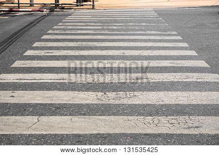 Crosswalk on the street in the city.