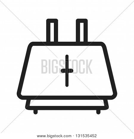 Toaster, breakfast, bread icon vector image. Can also be used for home. Suitable for use on web apps, mobile apps and print media.