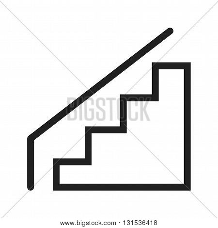 Escalators, mall, travel icon vector image. Can also be used for shopping. Suitable for web apps, mobile apps and print media.