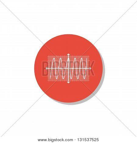 Cosine Icon In Vector Format. Premium Quality Cosine Symbol. Web Graphic Cosine Sign On Red Circle B