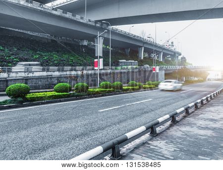 traffic on chongqing interchange