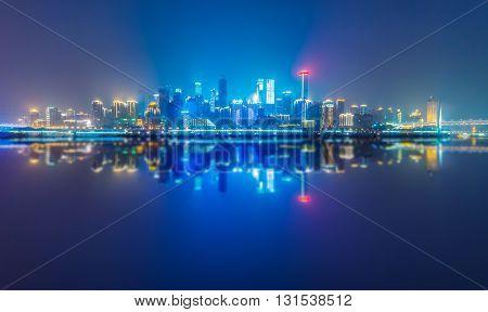 night chongqing harbor