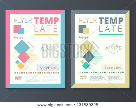 Abstract background corporate flyer brochure design in A4 size template
