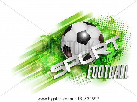 design sports football banner ball vector text