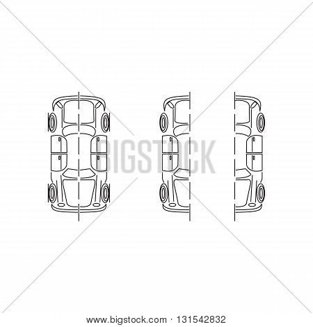 Line icon car parts vector illustration isolated on white background.