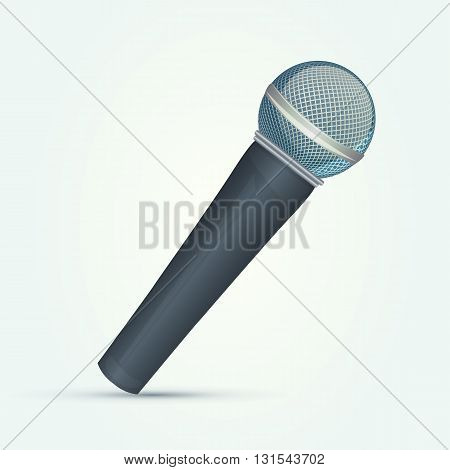Isolated classic microphone on white background design