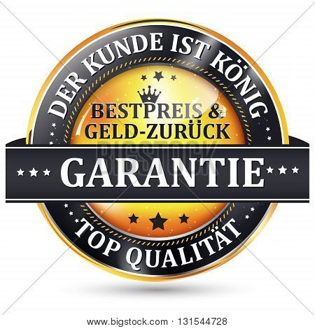 Our client is king. Best price or Money back Guaranteed. Top Quality - business retail label in German language.