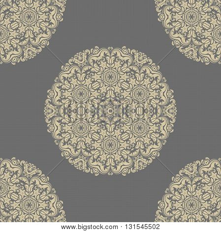 Oriental classic golden pattern. Seamless abstract background