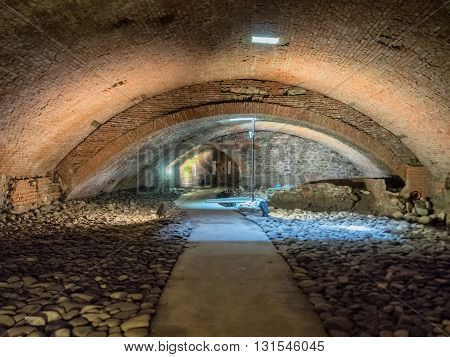 Caves under the Ceppo hospital in Pistoia Tuscany Italy