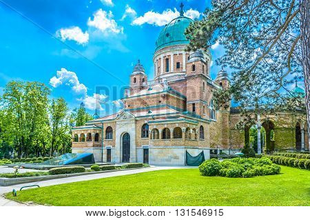 Mirogoj cemetery is main cemetery in capital town of Croatia, Zagreb Europe.