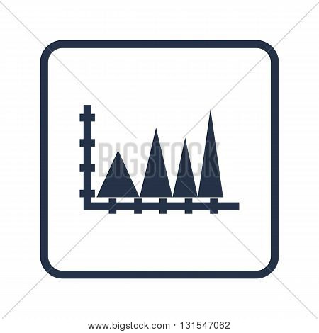 Triangle Icon In Vector Format. Premium Quality Triangle Symbol. Web Graphic Triangle Sign On Blue R