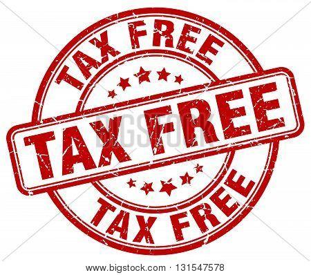 Tax Free Red Grunge Round Vintage Rubber Stamp.tax Free Stamp.tax Free Round Stamp.tax Free Grunge S
