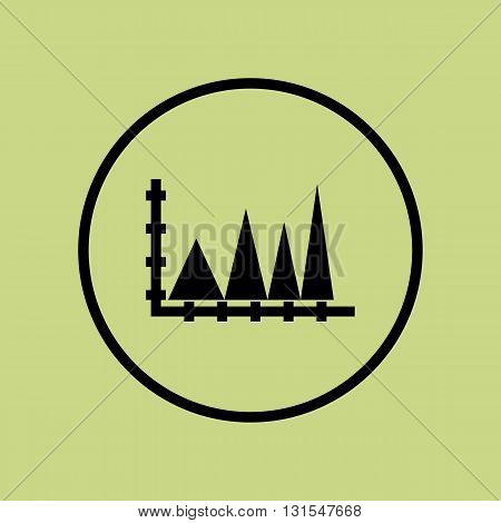 Triangle Icon In Vector Format. Premium Quality Triangle Symbol. Web Graphic Triangle Sign On Green