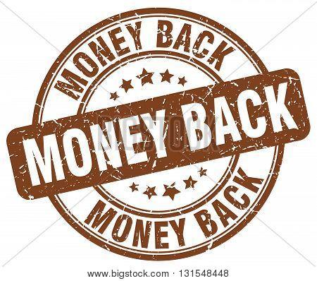 money back brown grunge round vintage rubber stamp.money back stamp.money back round stamp.money back grunge stamp.money back.money back vintage stamp.